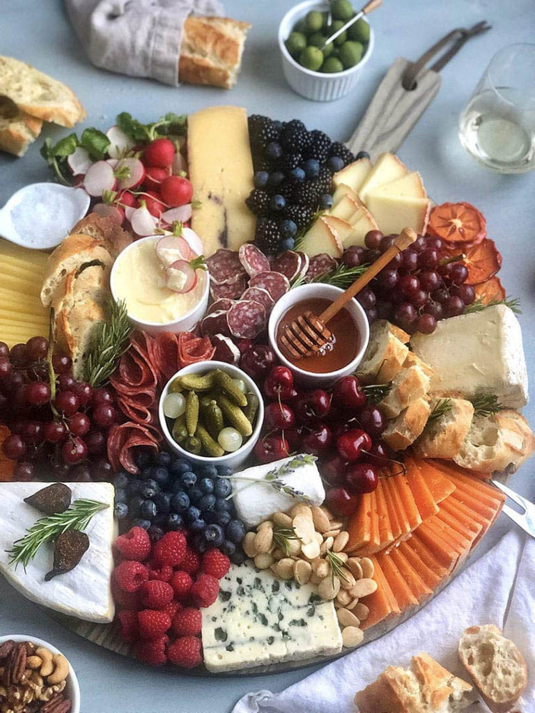 cheese board with brie