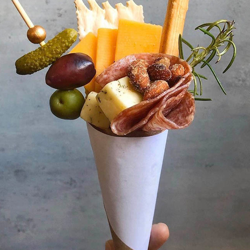 charcuterie cone charcuterie for one