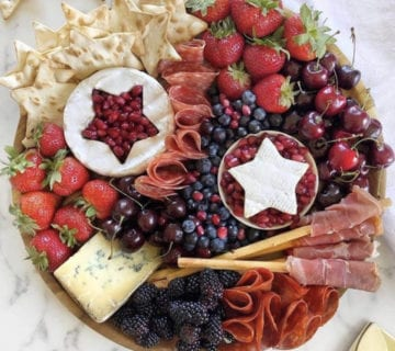 4th of july appetizer charcuterie
