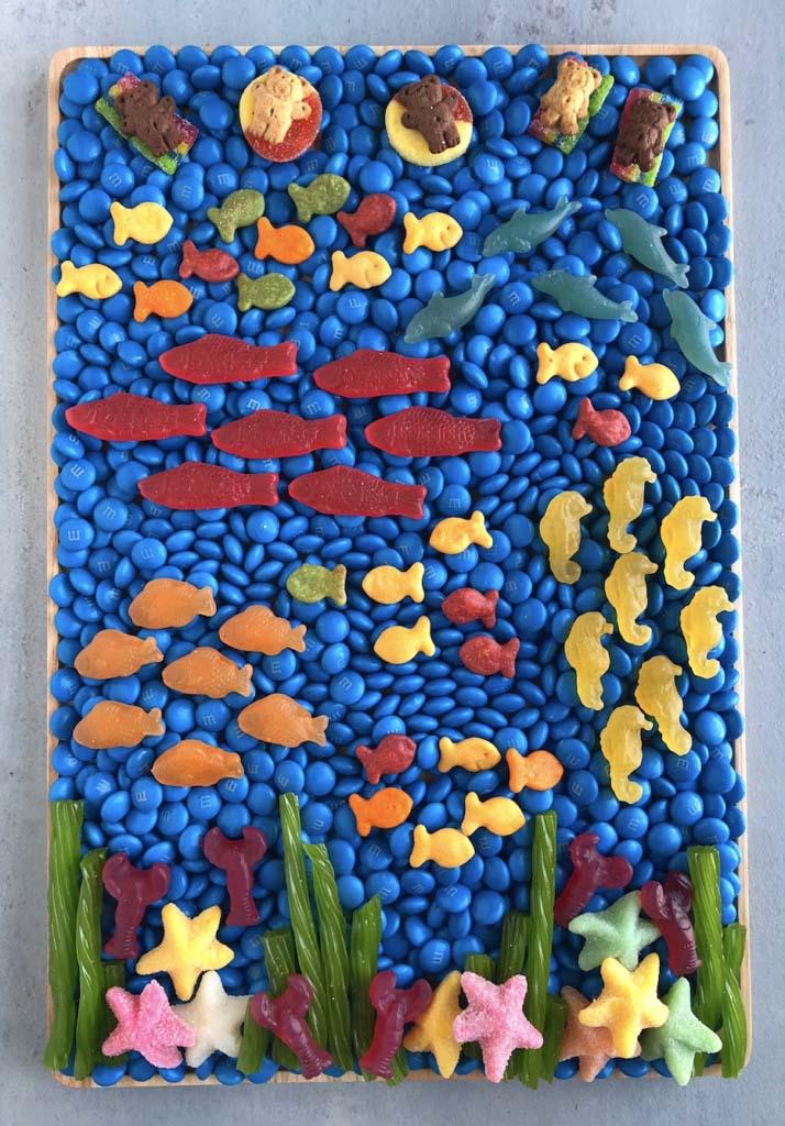 Beach candy board goldfish