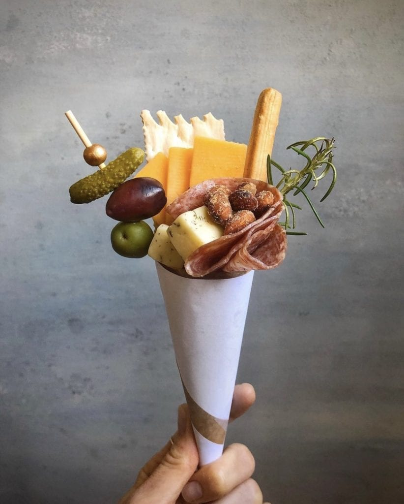 individual cheese boards charcuterie cone
