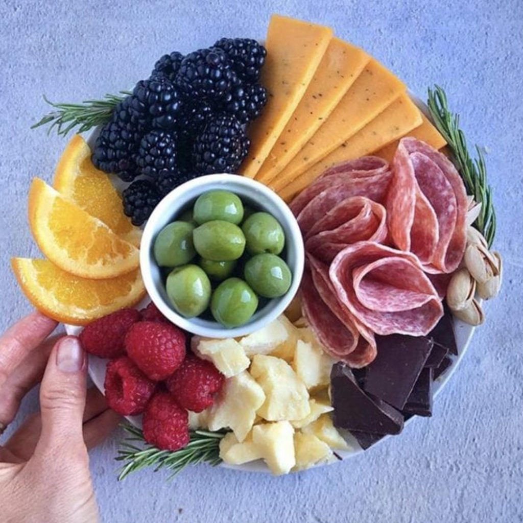 small charcuterie board for two