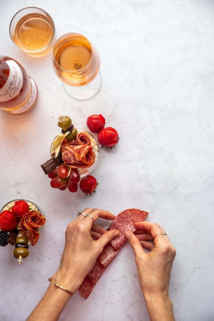 how to salami flower
