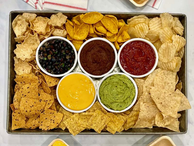 BakerMama olympic appetizer idea chips and dip