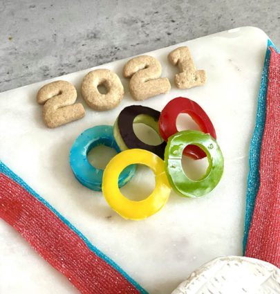 olympic rings themed appetizer